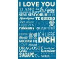 Plakát I Love You In Different Languages