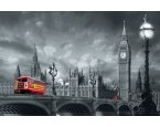 Fototapety Bus on Westminster Bridge F697